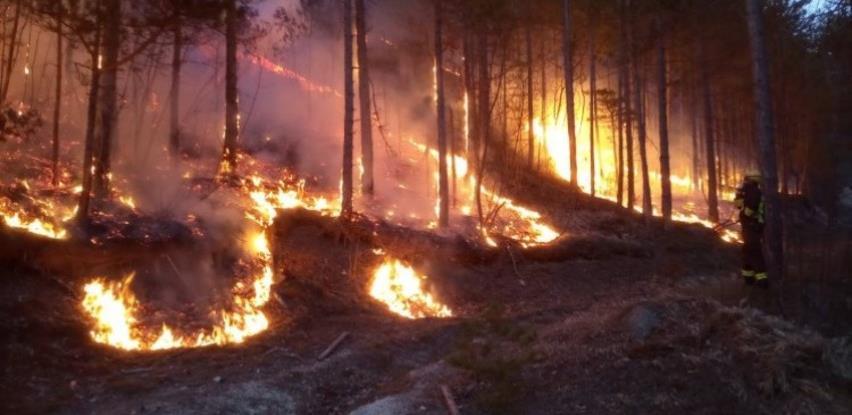 Aktivni požari na području Mostara, Jablanice i Stoca