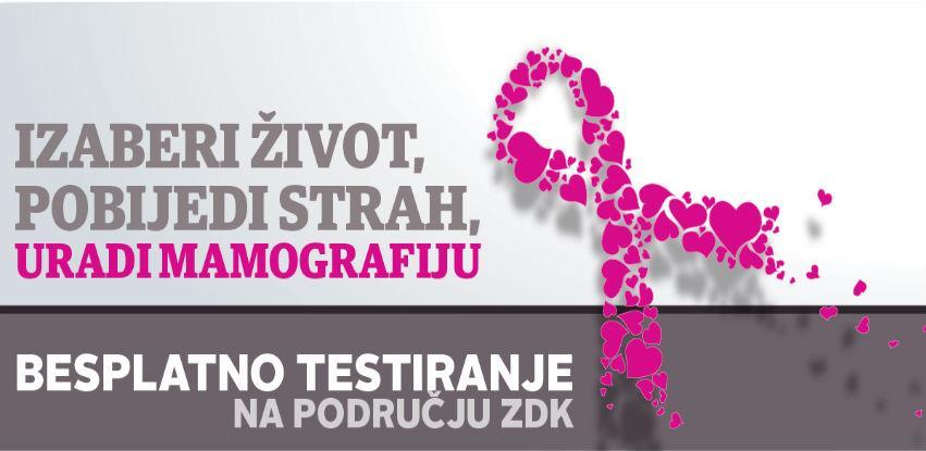 Izaberite život, pobijedite strah - Obavite besplatan mamografski pregled