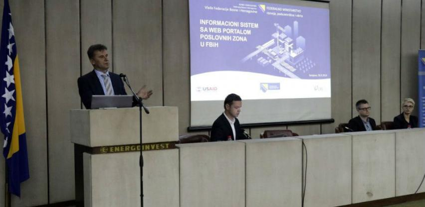 Predstavljen Informacioni sistem sa web portalom poslovnih zona u FBiH