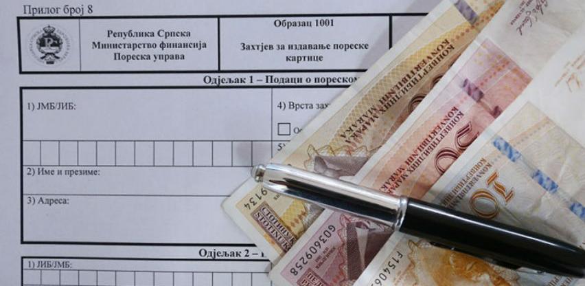 Poreska kartica građanima vratila 13,7 miliona KM