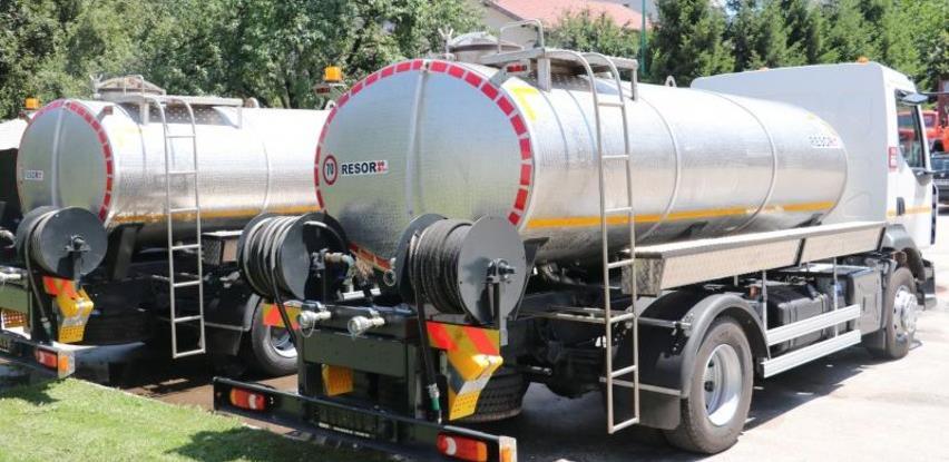 Općine Hadžići i Trnovo dobile dvije nove auto cisterne za pitku vodu