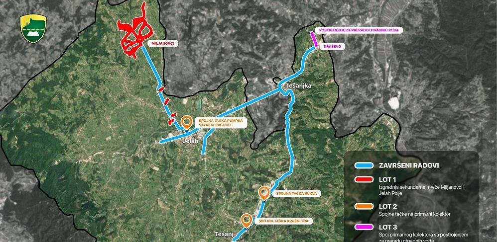 Ugovoreni novi radovi za završetak sistema prikupljanja otpadnih voda u Tešnju