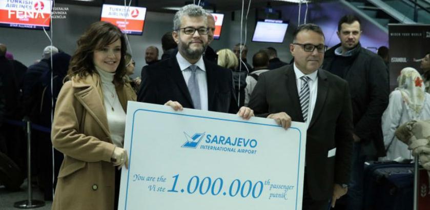 Jubilej na sarajevskom aerodromu: Ispraćen milioniti putnik u 2018.