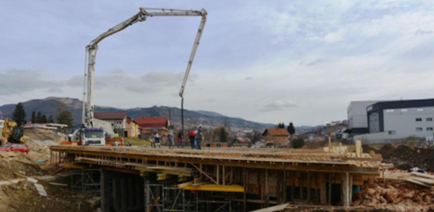 Počeli radovi na betoniranju mosta u Novoj industrijskoj zoni
