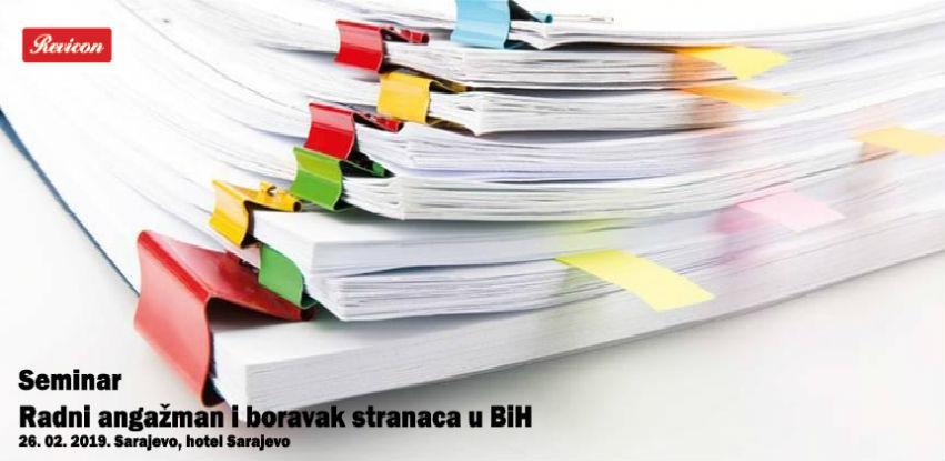 Seminar: Radni angažman i boravak stranaca u BiH