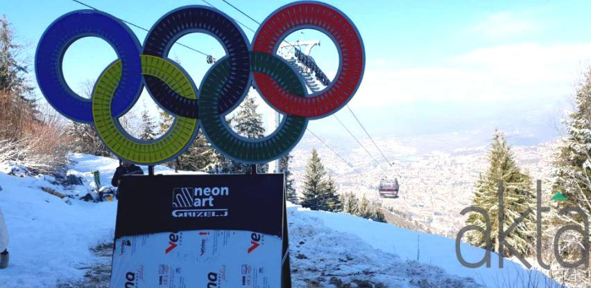 Trebevićka žičara dobila svijetleće olimpijske krugove