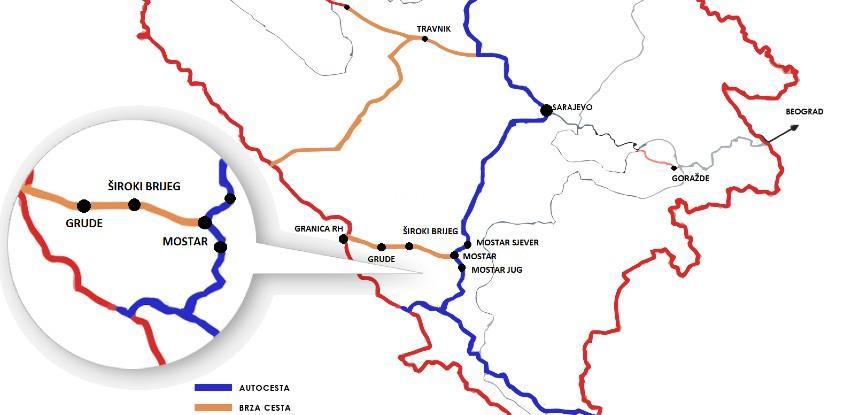 Kreće izgrada glavnog projekta brze ceste Mostar – Široki Brijeg-granica RH