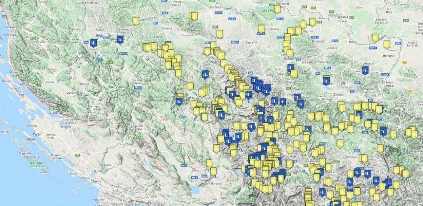 Pogledajte digitalnu mapu izgrađenih i planiranih MHE u BiH