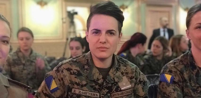 Dajana Dangubić, prva žena komandir tenka m-84