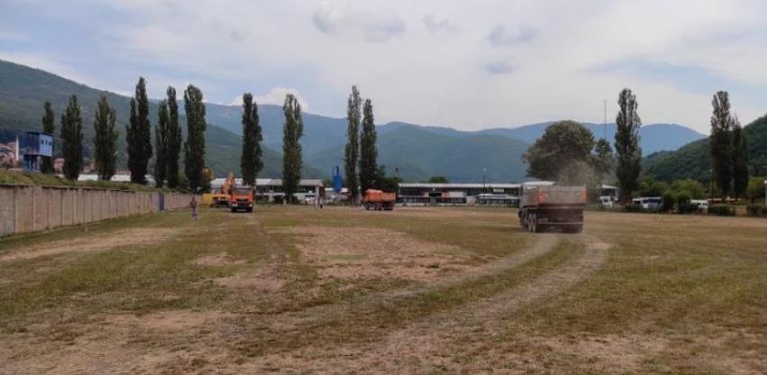 Počela izgradnja pomoćnog stadiona sa vještačkom travom u Goraždu