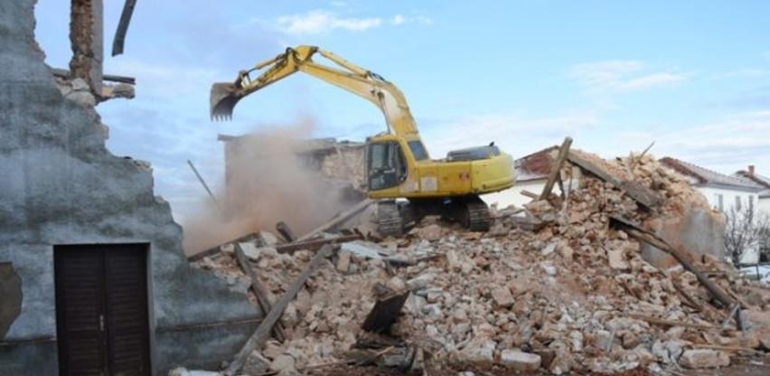 Počelo uklanjanje zgrade Kulturno-informativnog centra Čitluk