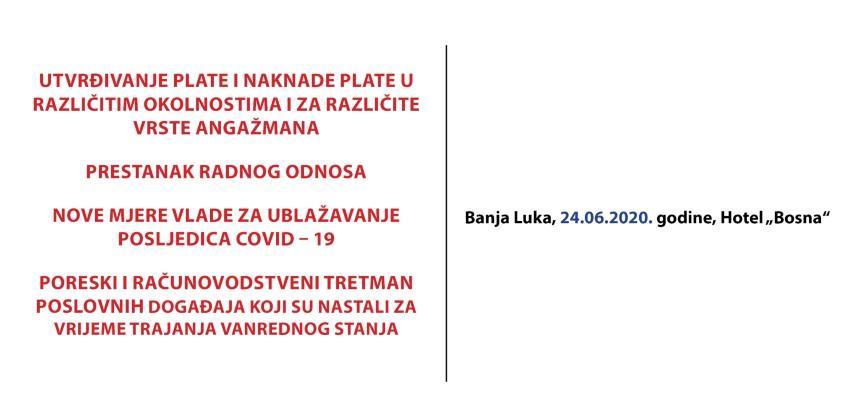 Seminar: Radni odnosi u Republici Srpskoj