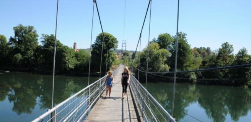 Viseći most u Priječanima uskoro u funkciji