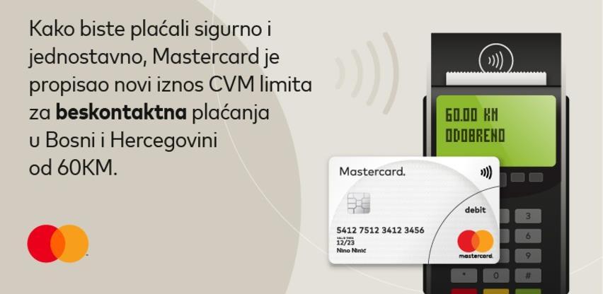 Mastercard propisao novi iznos CVM limita: Do 60KM bez PIN-a