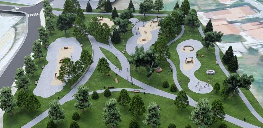 Središnji gradski park u Posušju dobiva novi izgled (Foto)
