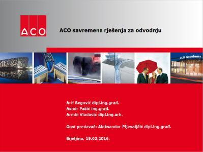 """ACO d.o.o. održao prezentaciju """"Savremena rješenja za odvodnju"""""""