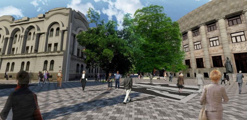 Raspisan tender za obnovu pješačke zone kod Palate predsjednika RS