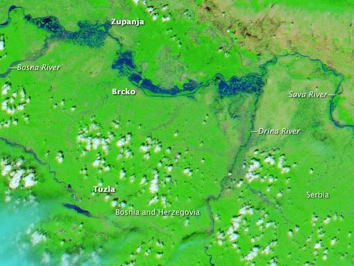NASA snimila poplave iz svemira