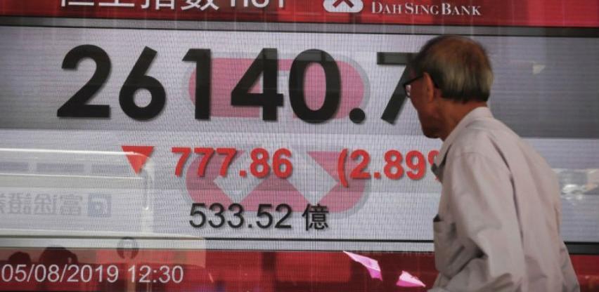 Azijska tržišta - Oštar pad indeksa, brinu Hong Kong i Argentina