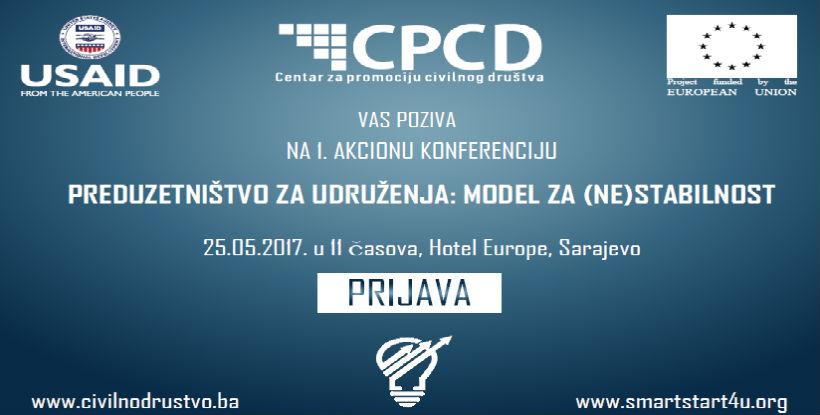 CPCD konferencija - Preduzetništvo udruženja: Model za (ne)stabilnost