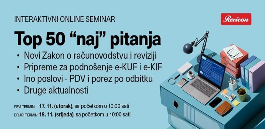 """Revicon seminar: TOP 50 """"NAJ"""" pitanja"""