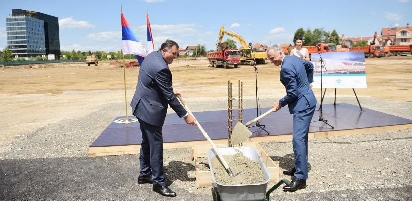 "Položen kamen temeljac za izgradnju tržnog centra ""Delta planet"""