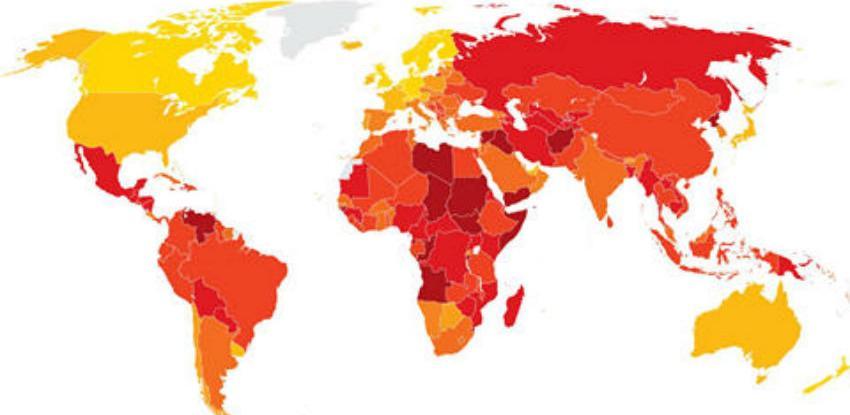 Indeks percepcije korupcije: BiH na 89. mjestu najkorumpiranijih zemalja svijeta