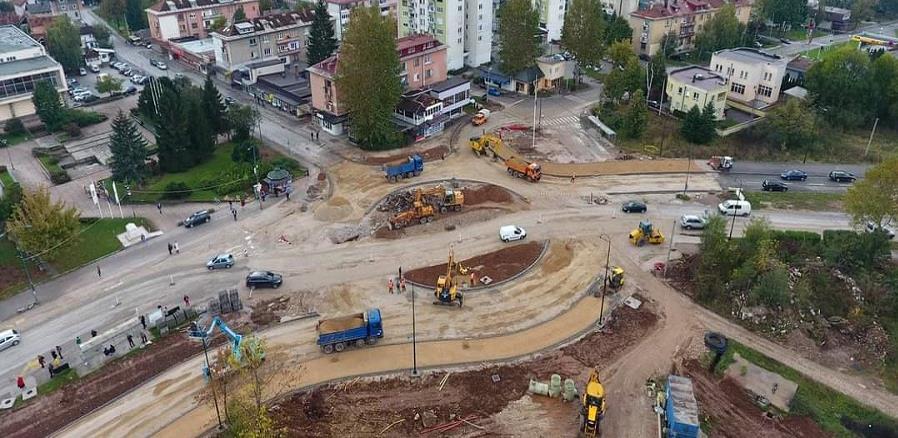 Izgradnja kružnog toka u Hrasnici bit će završena za dva mjeseca