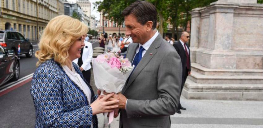 Grabar-Kitarović i Pahor se susreli na neformalnoj radnoj večeri
