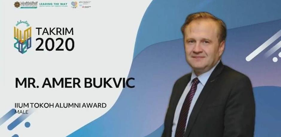 "Amer Bukvić dobitnik malezijskog priznanja ""Alumni Laureate  Award"""