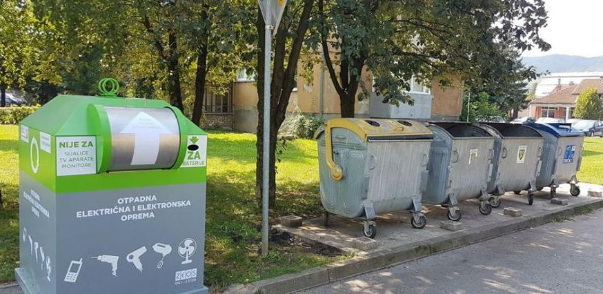Postavljeni kontejneri za e-otpad u Kantonu Sarajevu