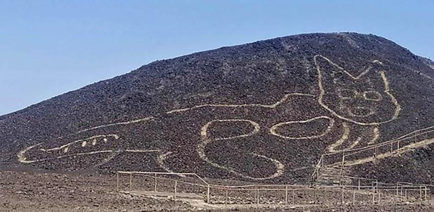 Otkriven golemi 2.000 godina star geoglif mačke urezan u pustinjski kamen