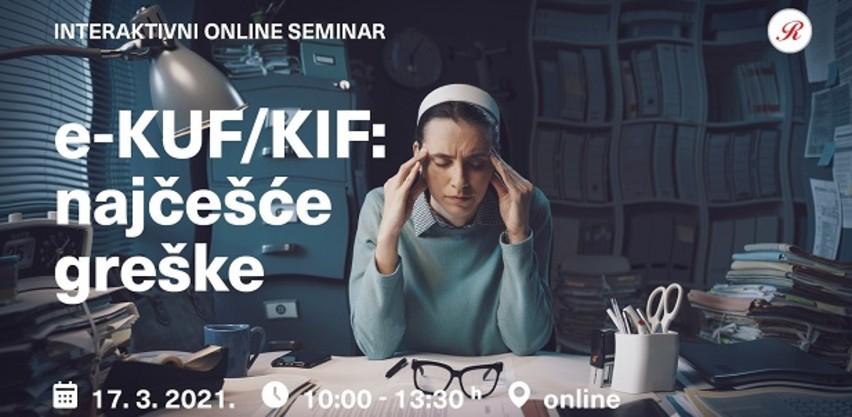 Novi interaktivni online seminar: E-KUF/KIF - najčešće greške