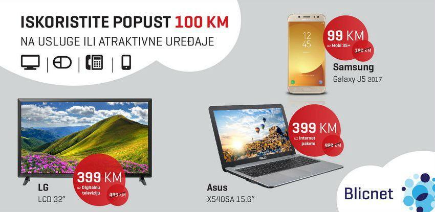 U Blicnetu popust 100 KM za usluge i uređaje