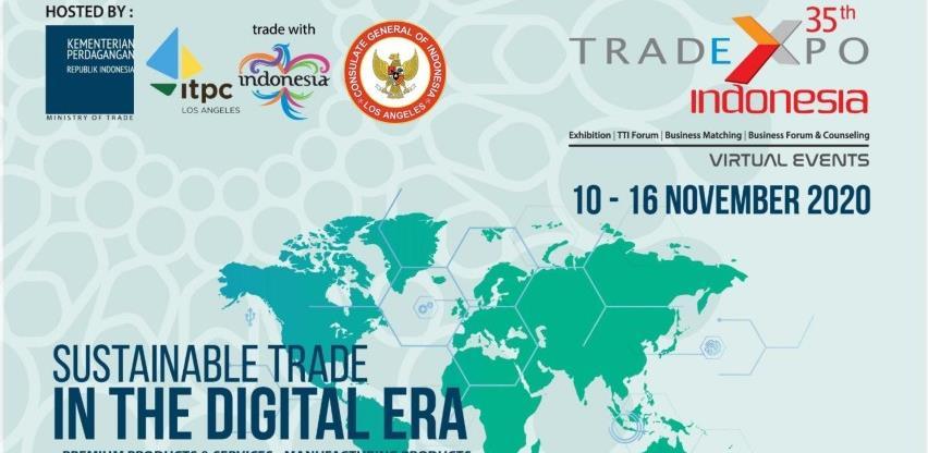 """Poziv poslovnoj zajednici za učešće na virtualnom sajmu """"Trade Expo Indonesia"""""""