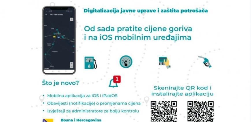 Aplikacija o cijenama goriva u FBiH dostupna i za iOS mobilne uređaje