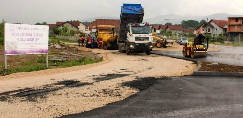 Završena izgradnja kružne raskrsnice u poslovnoj zoni Ciljuge 2