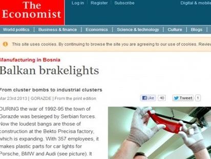 Ugledni The Economist objavio priču o ekonomskom uspjehu Goražda