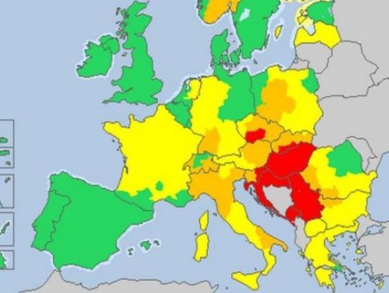 BiH od 19. februara na oficijelnoj stranici MeteoAlarma EU