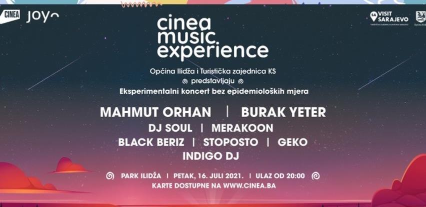 Prvi eksperimentalni koncert za 1000 ljudi 16. jula na Ilidži