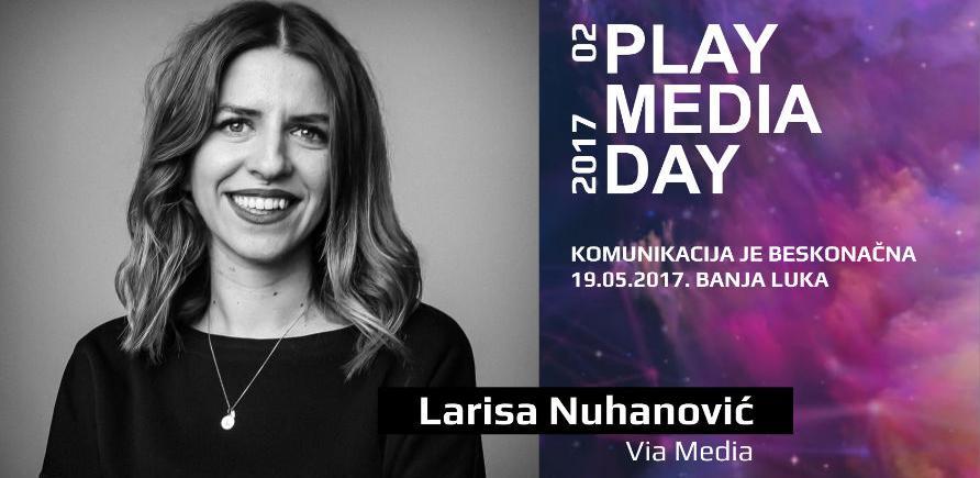 Larisa Nuhanović, ekspertica za digitalnu promociju na Play Media Day 02