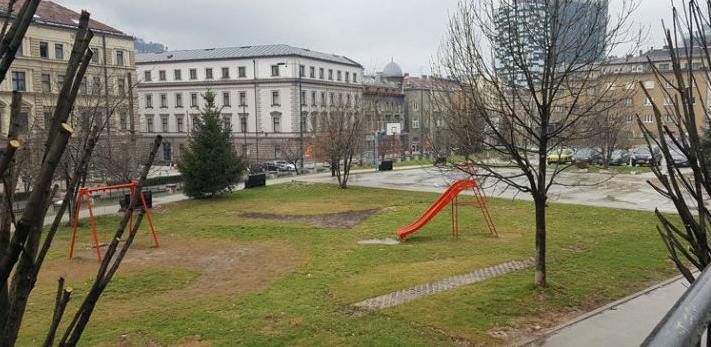 Park Hastahana: Prostor planiranog sjedišta Vlade FBiH ili moderne zgrade?