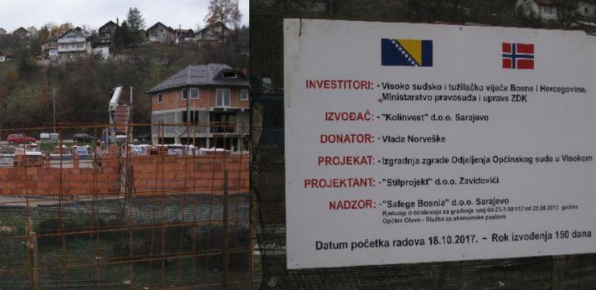U toku su radovi na izgradnji nove zgrade suda u Olovu