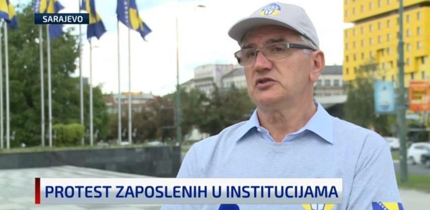 Zaposleni u institucijama BiH održali proteste: Ugrožena nam je egzistencija