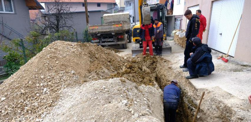 Počela izgradnja distributivne vodovodne mreže u naselju Buća Potok