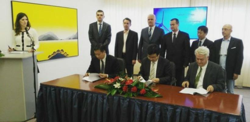Sporazum o razumijevanju potpisali su projektni direktor VE Ivovik d.o.o.,Ekrem Nanić i predstavnici poduzeća iz Narodne Republike Kine.