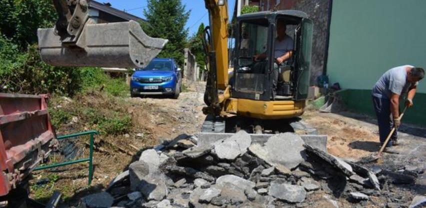 Počela sanacija ulice iz projekta Općine Stari Grad i Direkcije za ceste