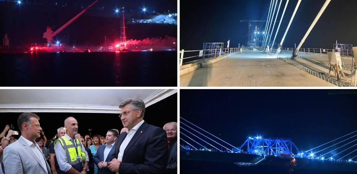 Spojen Pelješki most u Hrvatskoj