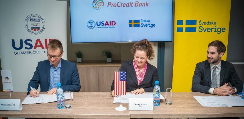 Švedska i Vlada SAD potpisale kreditne garancije sa ProCredit Bank