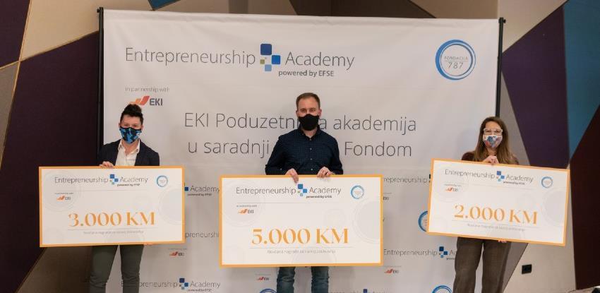 Pobjednici/e pitch takmičenja EKI Poduzetničke akademije u saradnji sa EFSE Fondom